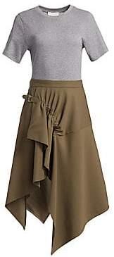 3.1 Phillip Lim Women's Wool T-Shirt Handkerchief Dress