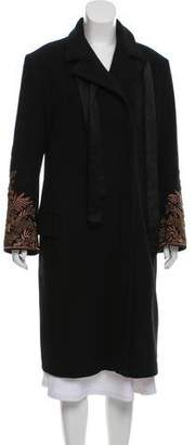 Dries Van Noten Embroidered Wool Coat w/ Tags