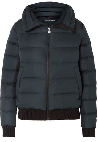 Perfect Moment - Super Star Quilted Down Ski Jacket - Black