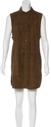 Vince Sleeveless Suede Dress
