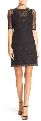 French Connection 'Rene' Lace Sheath Dress $258 thestylecure.com