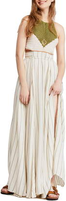 Free People Harper Halter Maxi Dress