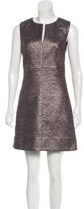 Diane von Furstenberg Metallic Mini Dress