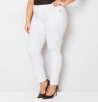 Avenue Body Sculpting Skinny Jean in White
