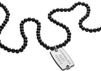 Diesel Men Stainless Steel Pendant Necklace - DX1133040