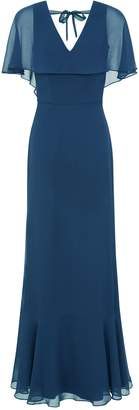 Dorothy Perkins Womens *Chi Chi London Teal Chiffon Maxi Dress