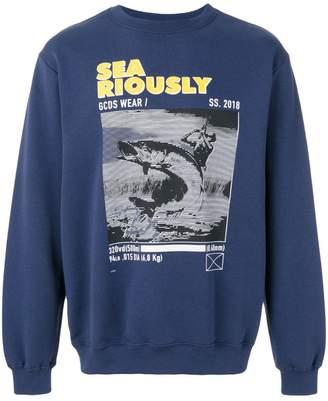 Gcds print long-sleeve sweatshirt
