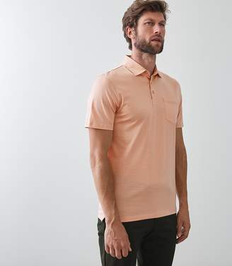 Reiss ELLIOT Mercerised Polo Shirt Pink