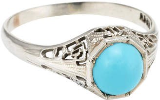 One Kings Lane Vintage Art Deco Turquoise Filigree Ring - Precious & Rare Pieces
