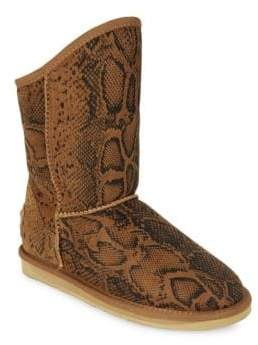 Australia Luxe Collective Snakeskin Print Sheepskin & Shearling Boots