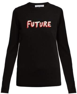 Bella Freud Future Instarsia Knit Wool Sweater - Womens - Black Multi