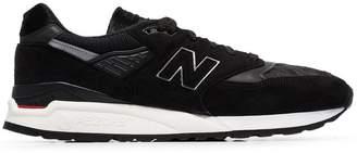 New Balance black M998TBC pony hair sneakers