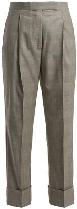 Thom Browne Prince of Wales-check wool trousers