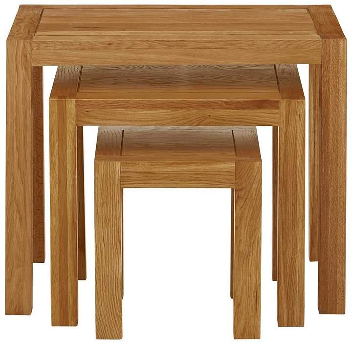 Luxe Collection - Suffolk 100% Solid Oak Ready Assembled Nest Of Tables