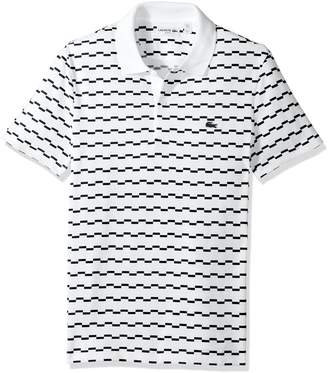 Lacoste Men's Short Sleeve Robert George Irrig Stripe Slim Polo