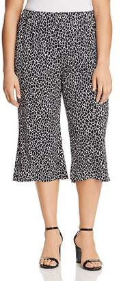 MICHAEL Michael Kors Giraffe-Print Wide-Leg Crop Pants