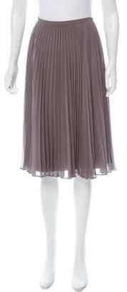 Halston Pleated Chiffon Skirt