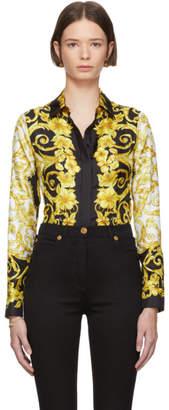 Versace Black Silk Medusa Barroco Shirt