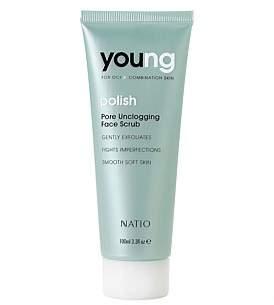 Natio Young Pore Unclogging Face Scrub 100Ml
