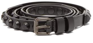 Prada Studded Leather Belt - Womens - Black