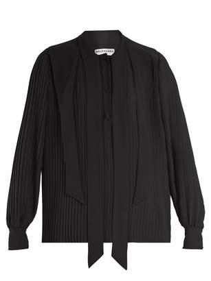 Balenciaga Pleated georgette blouse