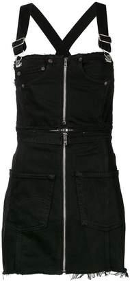 RE/DONE zipped denim dunagaree dress