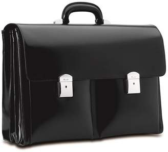 Pineider Triple Compartment Leather Briefcase