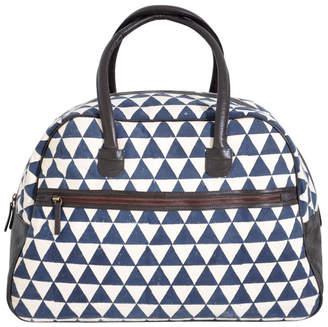Rising Tide Fair Trade Navy Pyramid Weekender Bag