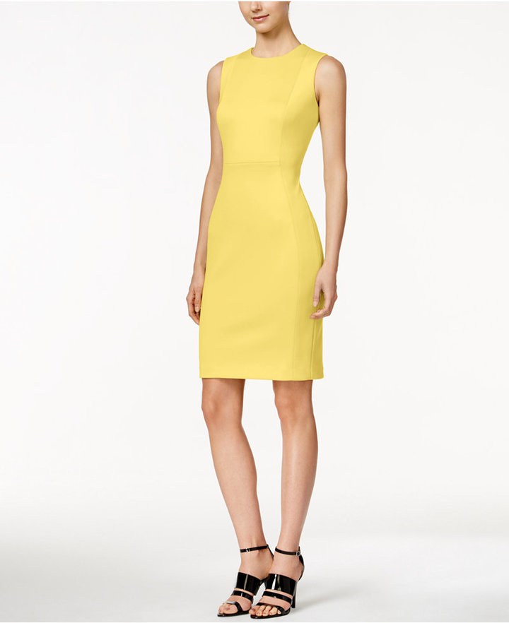 Calvin Klein Scuba Crepe Sheath Dress 2