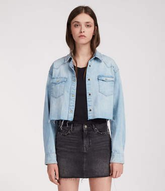 AllSaints Cropped Cannon Shirt