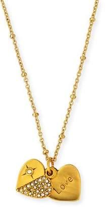 Sequin Heart Talisman Necklace