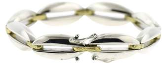 Georg Jensen Vintage 18K Yellow Gold and Sterling Silver Bracelet