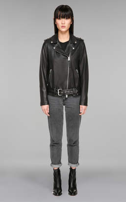 Mackage CHIARA ''Boyfriend'' style moto leather jacket