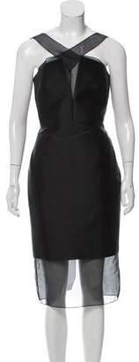 Cushnie et Ochs Silk-Accented Midi Dress
