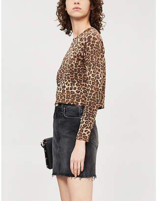 Good American Leopard-print stretch-jersey top