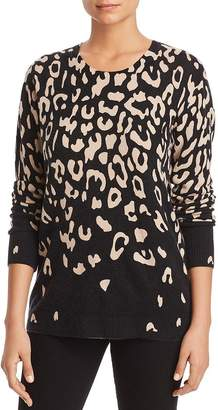 Bloomingdale's C by Degradé Leopard Print Cashmere Sweater - 100% Exclusive
