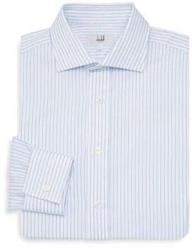 Dunhill Classic Fit French-Cuff Pinstripe Dress Shirt