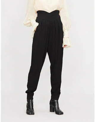 Limi Feu High-rise dropped-crotch wool trousers
