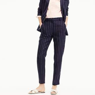 J.Crew Easy pant in pinstriped linen