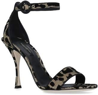 Dolce & Gabbana Keira Leopard Sandal Heels 105