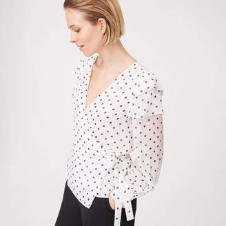 Club Monaco Strils Silk Wrap Top