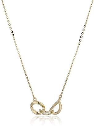 14k Yellow Gold Entwined Chains Adjustable Necklace