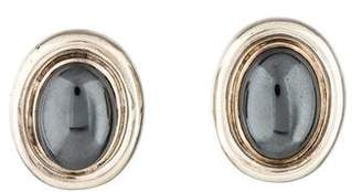 Tiffany & Co. Hematite Oval Earrings