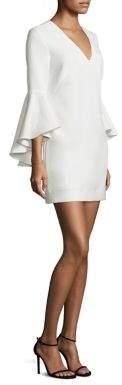 MILLY Nicole Cady V-Neck Bell Sleeve Dress