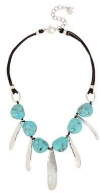 Robert Lee Morris Soho Santa Fe Crystal, Turquoise and Leather Necklace