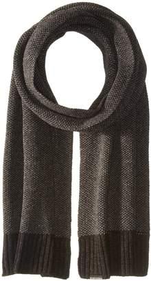 Ben Sherman Men's Birdseye Scarf W Rib Knit