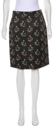 Derek Lam Knee-Length Floral Skirt