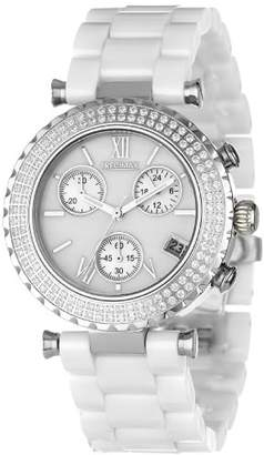 Mother of Pearl Precimax Women's PX13190 Lily Elite Crystal Mother-Of-Pearl Dial Ceramic Band Watch