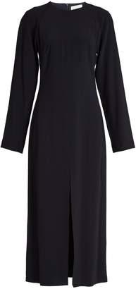 Raey Long-sleeved split-front crepe midi dress