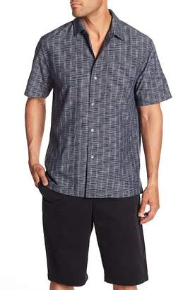 Tommy Bahama Seismic Stripe Short Sleeve Original Fit Silk Shirt